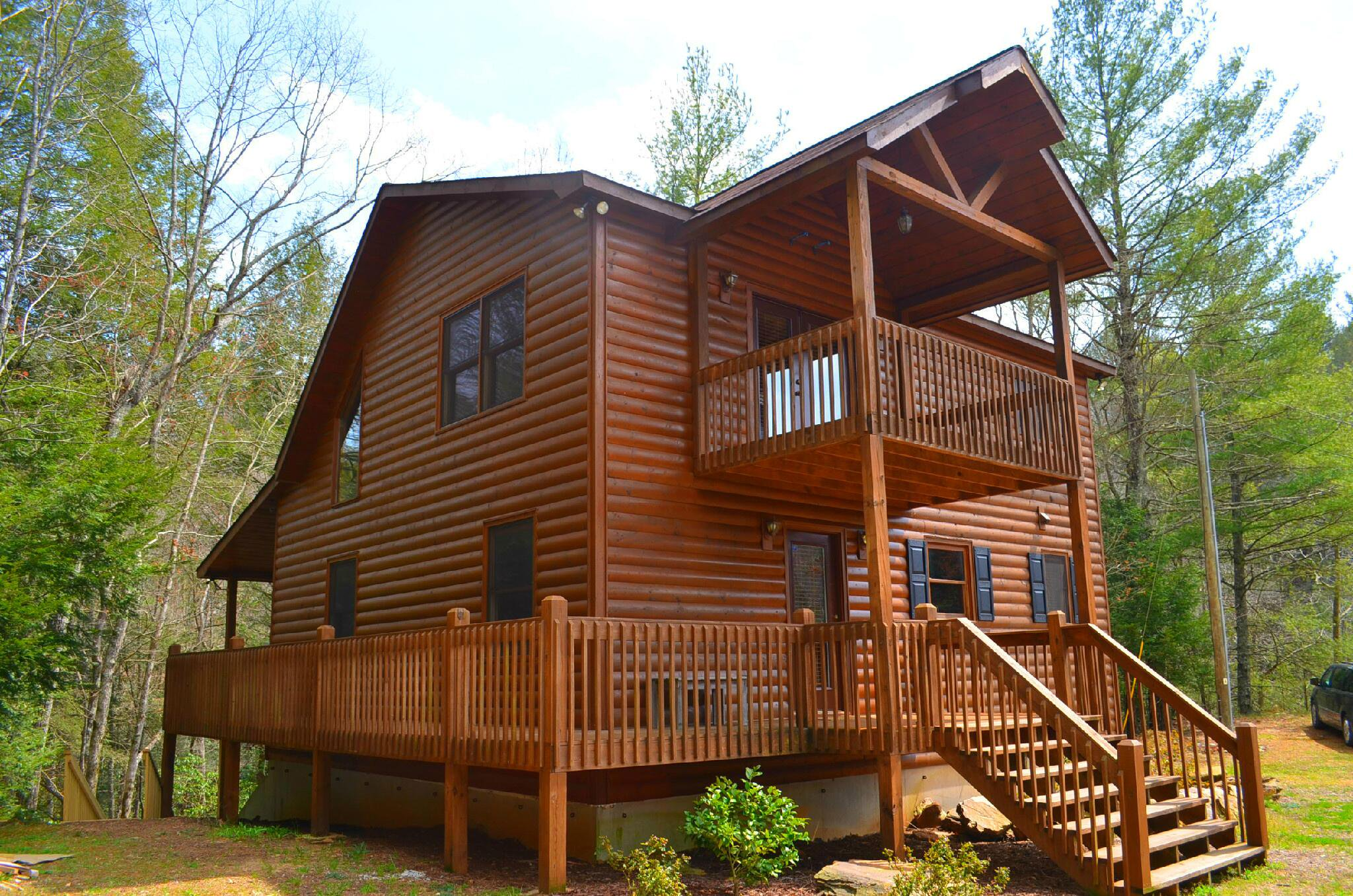 exterior rental clouds gallery cabins photos ga for cabin blue the rent view ridge mountain above